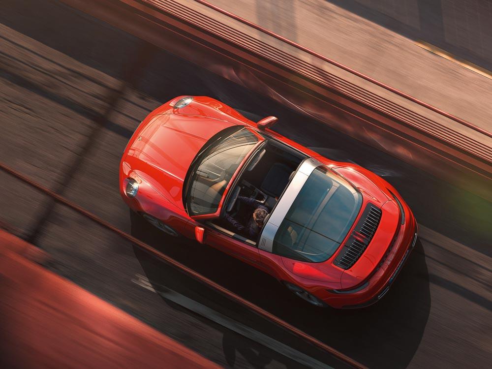 foto Vorstellung Porsche 911 targa 2020
