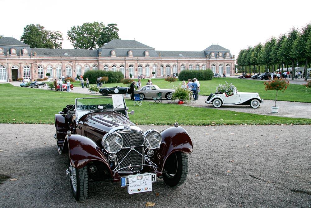 Schlosspark Jaguar classic Gala Schwetzingen
