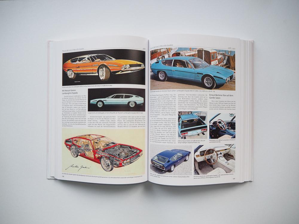 lamborghini innenseite buch bertone pioniere des autodesigns olms verlag